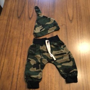 Other - Infant Camouflage Pants w/hat